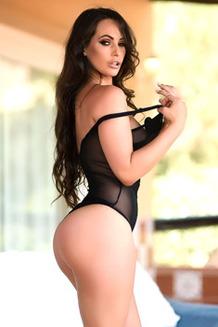 Anastasia In Sexy Black Bodysuit