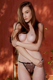 Gorgeous Emily Bloom Strips Off Her Flowery Dress Outside