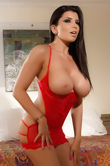 Romi Rain Freeing Large Boobs From Lingerie