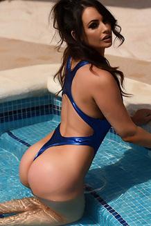 Anastasia Harris In The Pool