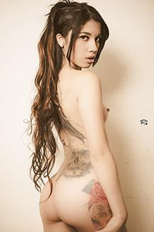 Jessica Alvarez Sexy And Hot Slutty Babe Shows Her Tattooed Body