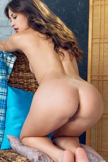 Cute Skinny Girl Stripping