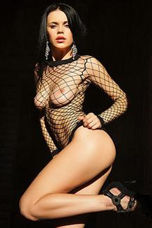 Ukrainian Beauty Mirela A In Fishnet